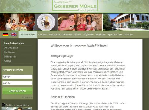Project goiserermuehle start